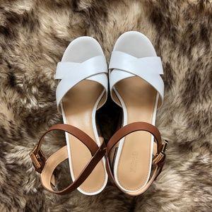 Michael Kors Leather Wedge Sandal